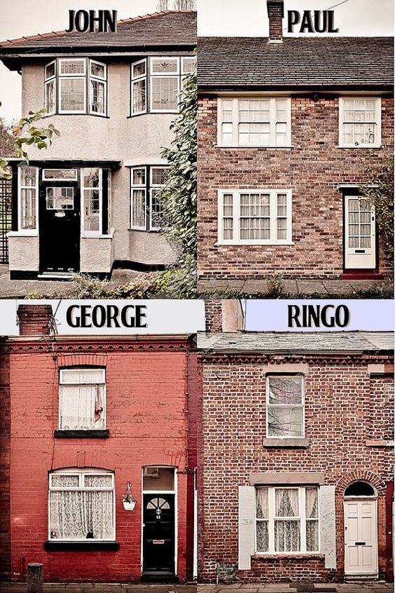 The Beatles Childhood Homes: John: 251 Menlove Avenue Paul: 20 Forthlin Road George: 12 Arnold Grove Ringo: 9 Madryn Street