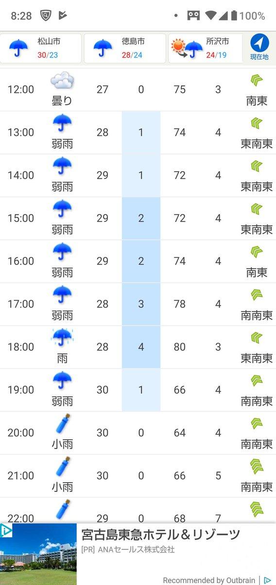 の 松山 予報 市 天気