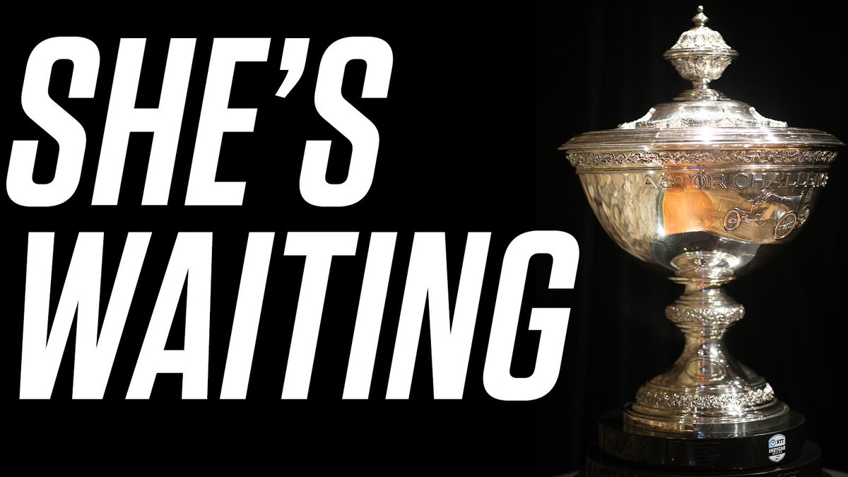 The Astor Cup awaits. Only four people still have a shot to get it. The @IndyCar Championship. TODAY at 3PM ET on @NBC!