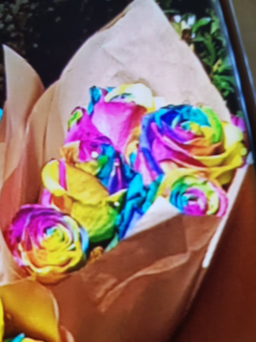 Here is some rainbow Roses's i bought from the Grounds in #Sydney to say thank you for being the Mystery Guest in #rnbfridayslive #Australia @4everBrandy