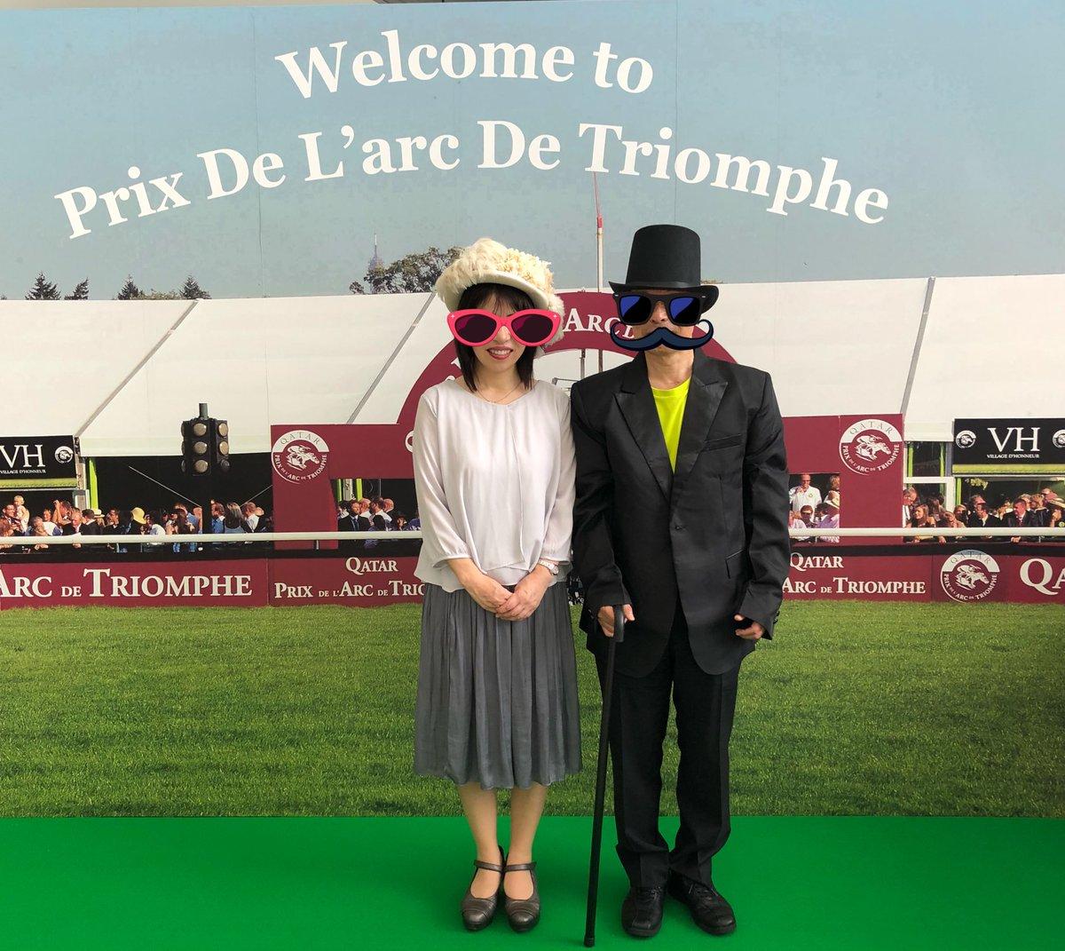昨日は阪神競馬場で競馬観戦  凱旋門賞に出走する🐎キセキ宛に応援メッセージを書き、ロンシャン競馬場に行ったつもりで記念撮影してきました(笑) 🎩帽子など小物もあり、スタッフの方がコーディネートしてくれました。