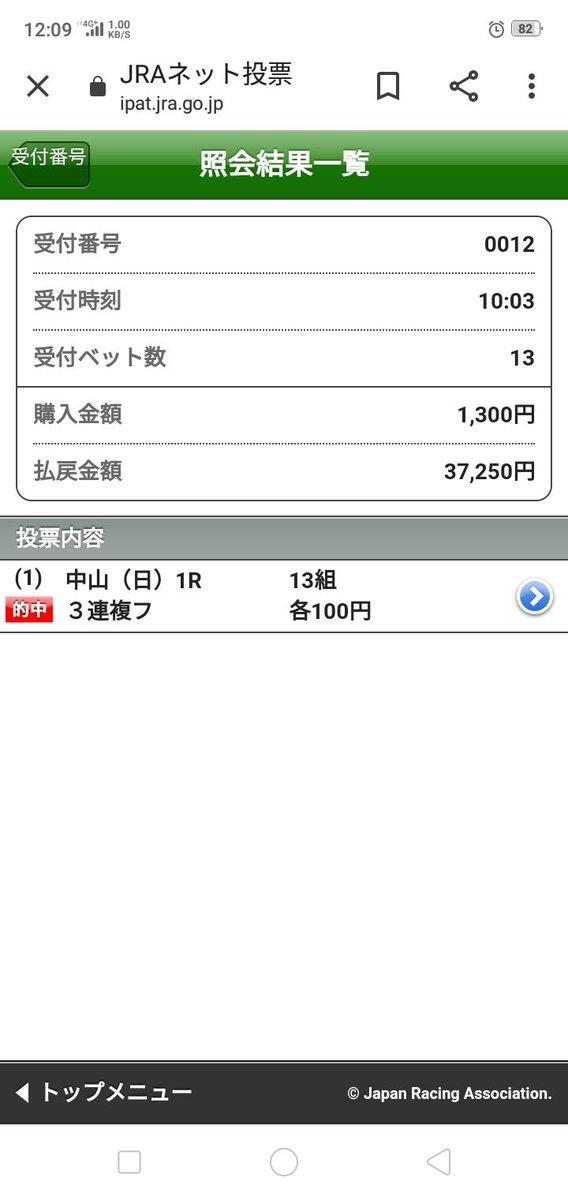 今日の🐴は藤田菜七子騎手との相性ピッタリ!  中山1レース10番人気2着 中山3レース6番人気3着  共に370倍の3連複をダブルゲット(*ˊᵕˋ* )今日はヤバいですf^^*)