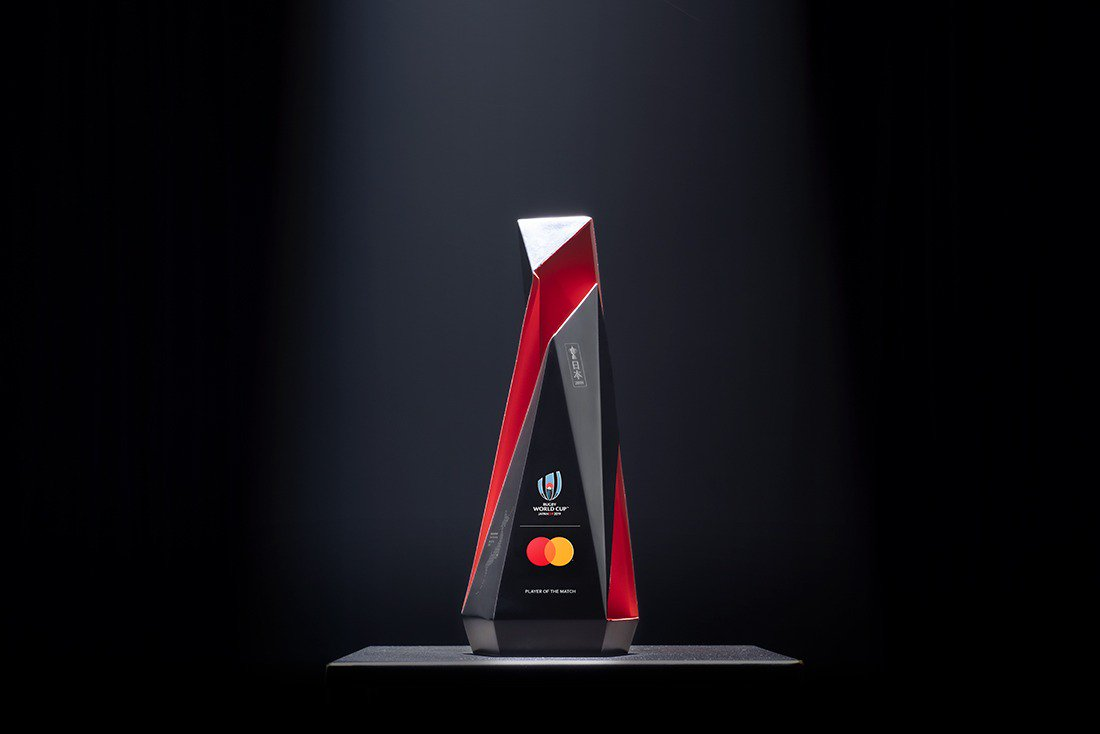 test Twitter Media - Epic pride and unmatched passion. We'll be real-time etching some official commentary during the most talked about moments of #ITAvNAM onto the @Mastercard Player of the Match Trophy. #POTM #RWC2019 https://t.co/jYzTINvmCb