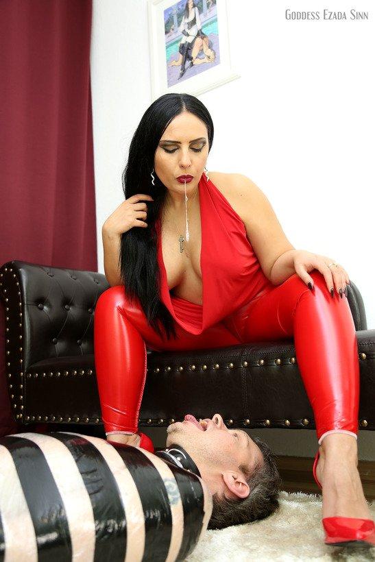 he receives My Domina kiss. Mistress Ezada Sinn Follow: @Mistress_Ezada / @TheHouseOfSinn Clips: EzadaSinn.com / SinnClips.com Slave Training: OnlyEzada.com Websites: MistressEzada.com / HouseofSinn.net