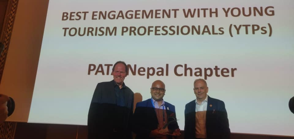 On Sept. 21 PATA Nepal Chapter was awarded the Best Engagement with YTP for the third time in a row. This Next. Gen engagement award is one of the most prestigious awards by PATA to the Chapter that shows most dedication in mobilizing youth for tourism promotion in the country.