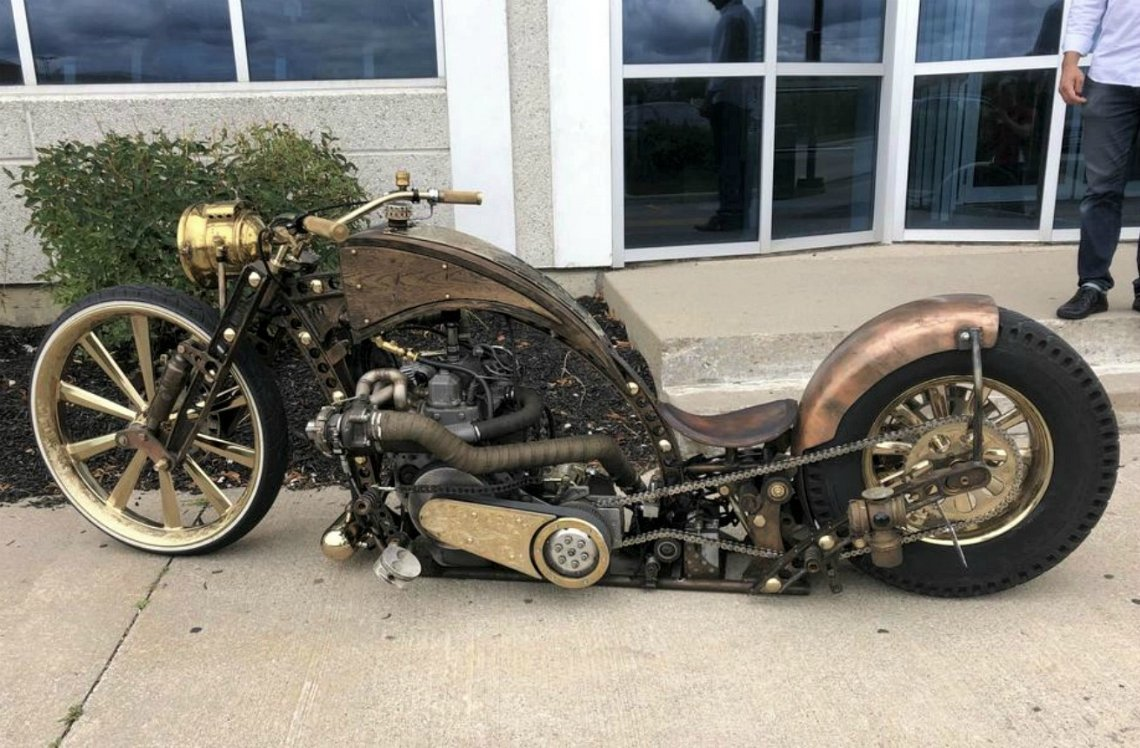 #Bike 🏍️ Awesome of the Day ⭐ ➡️ #Steampunk-ish ⚙️ #Motorbike 🚲 via @steampunkjnkies #SamaBikes ➡️ View More Selections 👉 https://t.co/Kugls40kPu