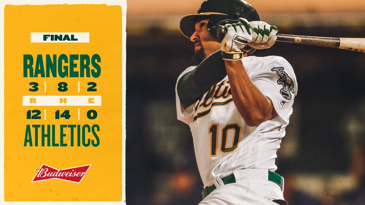 Cheers to another night of bashin'. #RootedInOakland  | @budweiserusa<br>http://pic.twitter.com/aorc9Tvfcq