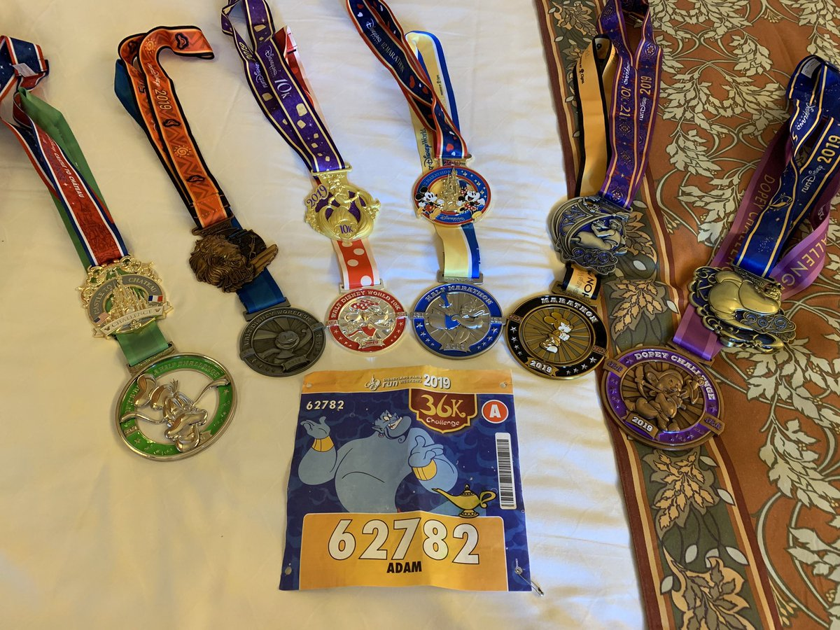 all the bling from the #Rundisney events <br>http://pic.twitter.com/MbpReTVIcK