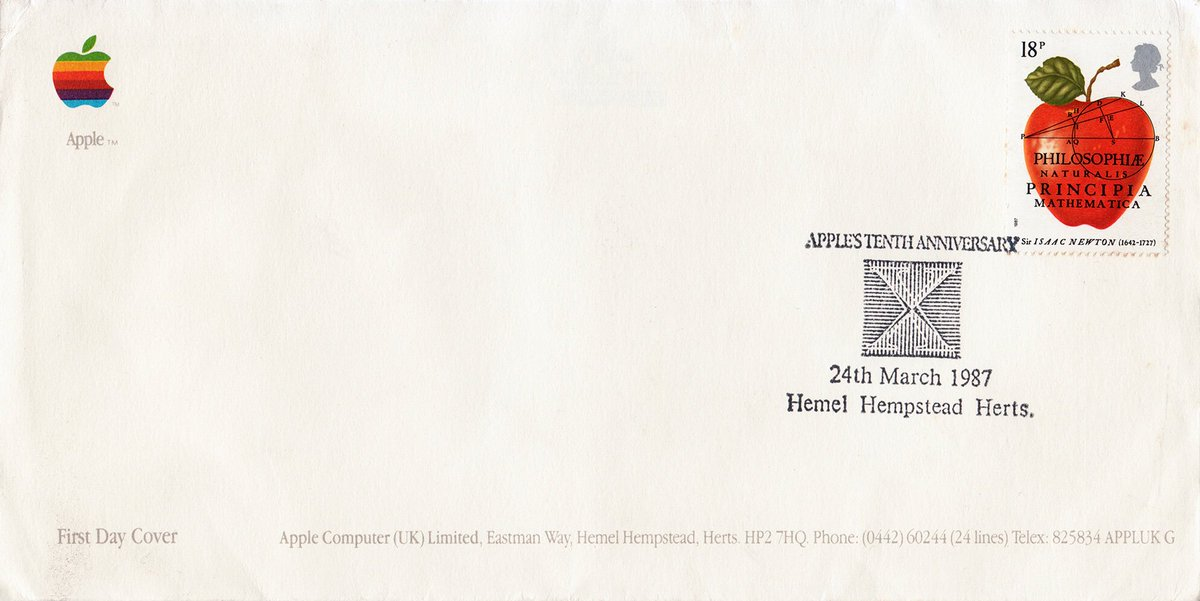 Here's an oddity I picked up on eBay a while ago; a First Day Cover celebrating Apple's tenth anniversary! #Macintosh #Ephemera #Philately <br>http://pic.twitter.com/hnD91WDLoi