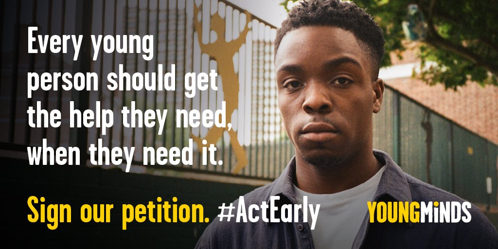 Mental health support should be available to every young person who needs it, when they need it. #ActEarly Sign our petition: ow.ly/fHxV50w5bYl Help us reach 50,000.