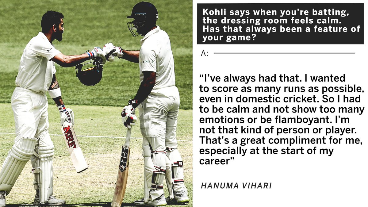 'If you saw, I was waiting for shots in my area. Maybe that's why he said that'Hanuma Vihari interview⏩https://es.pn/2m1lBNd