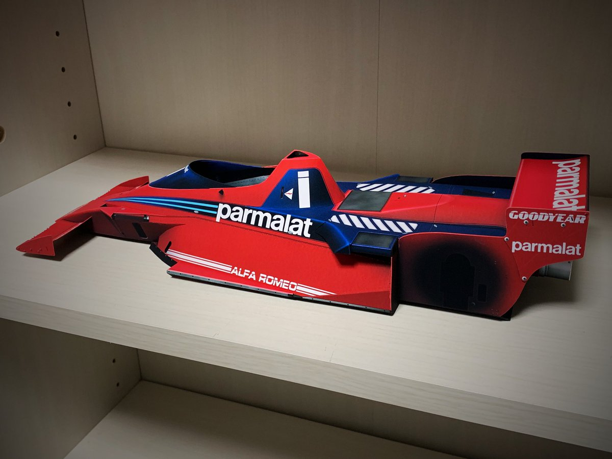 RT @sunny_781112: Paper craft Brabham BT46B / 1978 / Niki Lauda  ペーパークラフト ブラバムBT46B /...