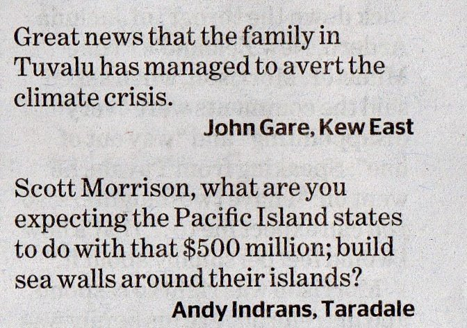 And another from the Age 19.8 on the #PacificForum Another #LNPfail