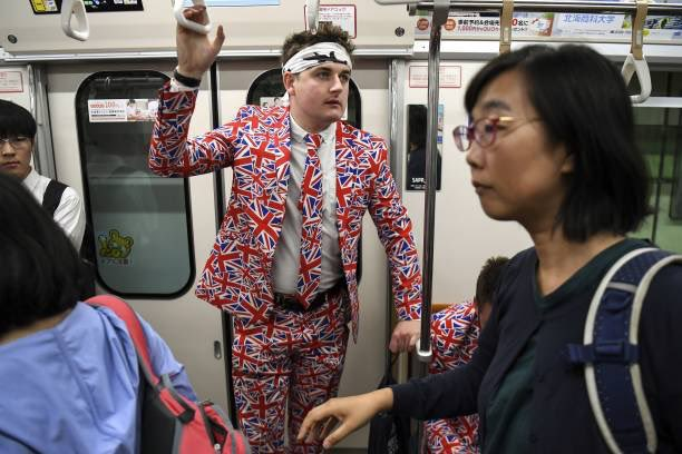 test Twitter Media - #ENGvTGA  England fans blending in with the locals on the metro in Sapporo 👀   #CarryThemHome https://t.co/jQcfecvk61