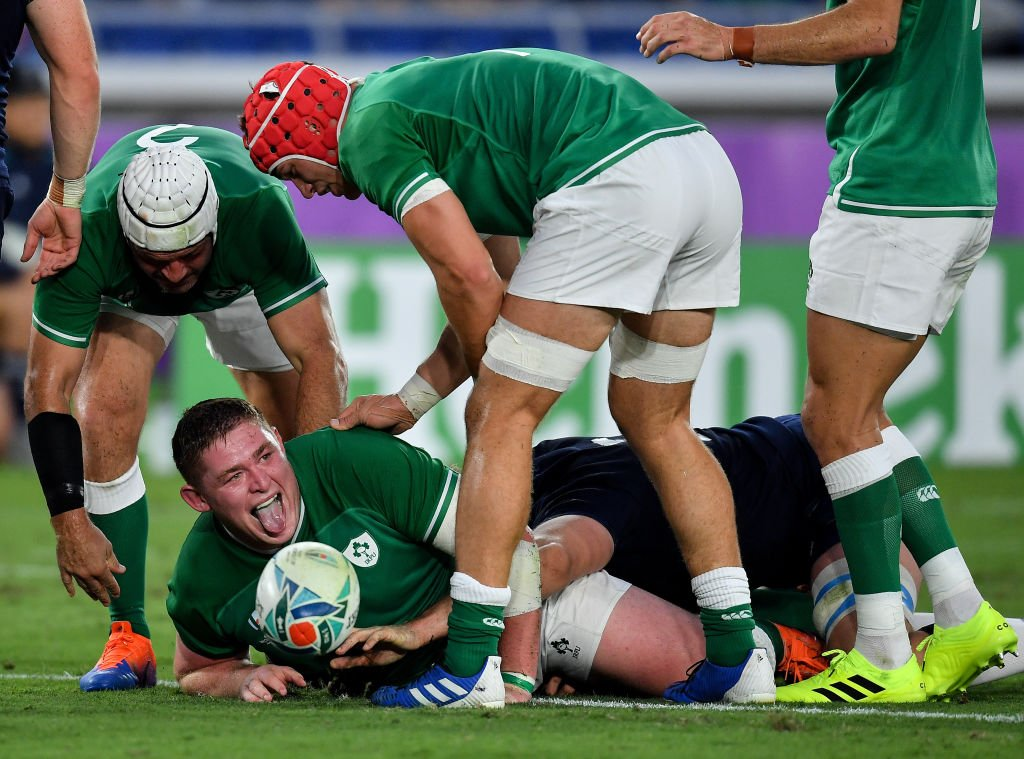 test Twitter Media - HT: Ireland 19-3 Scotland  Conor Murray's late penalty drifts wide, but Ireland have a dominant lead at the break.  Commentary @5liveSport & online: https://t.co/fijzfZVbT3  #bbcrugby #IREvSCO #RWC2019 https://t.co/zHiNcV8hMJ
