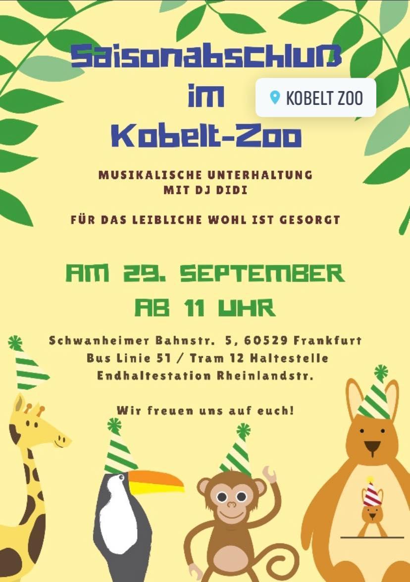 RT @frankfurt_west: Saisonabschluss im Kobelt-Zoo in Schwanheim am 29.9. https://t.co/yRawv2Wk2Q