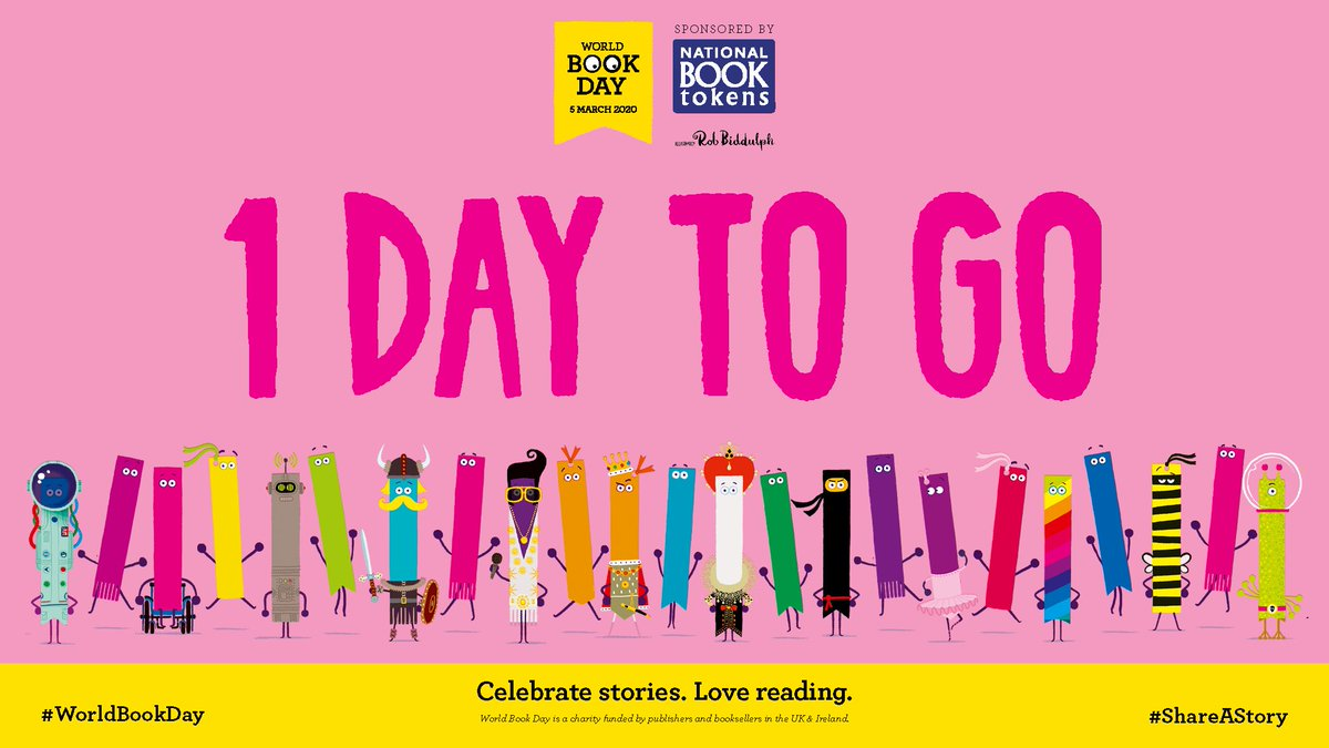 Only 1 day left until we announce our 2020 #WorldBookDay £1 books at @thebooksellers Children's Conference in London. Join us from 10.30 am tomorrow morning as we reveal the titles and authors of all of our brand new £1 books. #ShareAStory #KidsConf19
