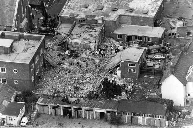 Thirty years ago today IRA terrorists bombed the RM Depot, Deal in Kent, killing 11 Royal Marines bandsmen & wounding 21, mostly teenagers. While huge NI police resources are devoted to hounding British troops, no-one has ever been arrested or convicted for this attack. <br>http://pic.twitter.com/N7ia50KTEc