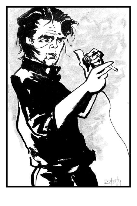 Happy Birthday Mr. Nick Cave.  Hangover drawing according R. Kleist