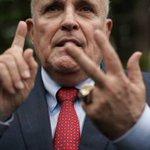 Image for the Tweet beginning: Giuliani, Fox's Roberts clash on