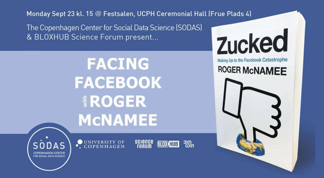 We still got a few free of charge tickets:   Meet the early mentor to Mark Zuckerberg, Roger McNamee.  He'll highlight the serious damage he believes that Facebook has inflicted to society across virtual and physical space and what can be done to stop it.  https://t.co/1aQ4kmMxDP