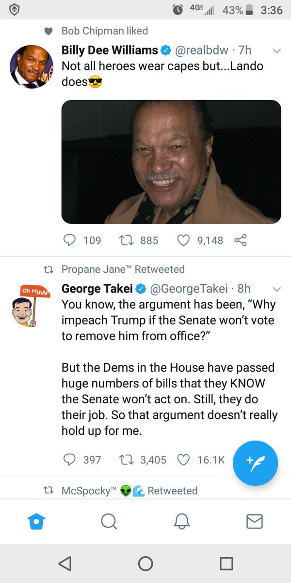 These were right next to each other on my Twitter, and reminded me that in Star Trek 3, Sulu is wearing a leather cape.  I think @GeorgeTakei wore it better.<br>http://pic.twitter.com/BiHbeWLb2M