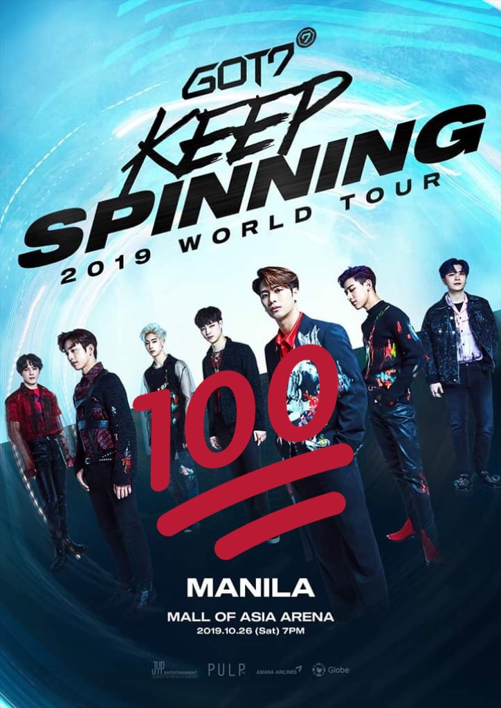 Congratulations to Philippines Ahgases on making the first fully sold out stop of the tour! You will be the boys beautiful last stop in 2019! I'm so proud!  #KeepSpinninginManila  #KeepSpinningTourinManila  #GOT7  @GOT7Official <br>http://pic.twitter.com/v8T456Kx1S