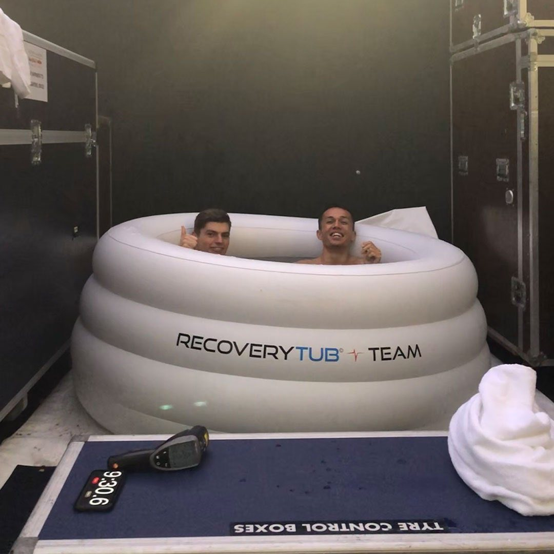@Max33Verstappen @alex_albon Chilling out before race time!