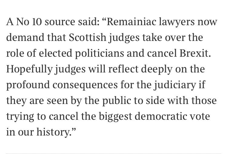 Downing Street is once again shamelessly threatening the independent judiciary. These are dangerous times.