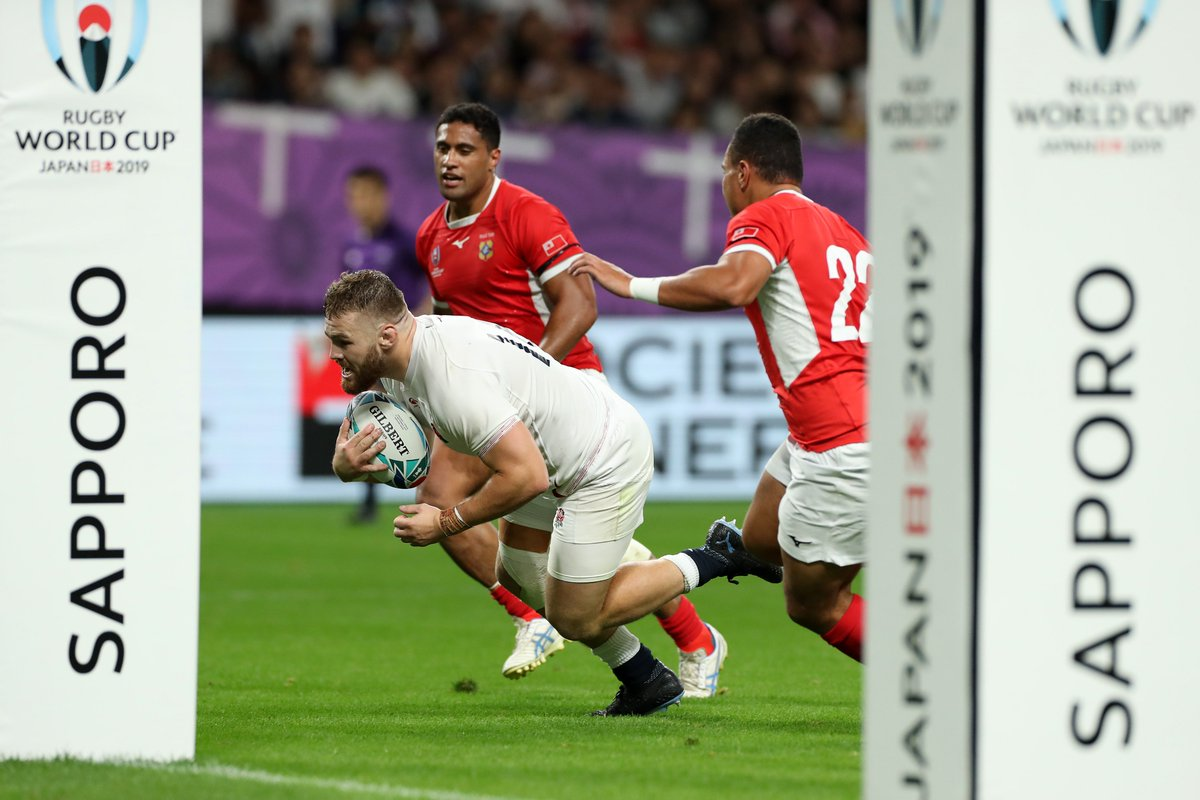 MATCH REPORT | England secure bonus-point win over Tonga in #RWC2019 opener. Heres how it happened: bit.ly/ENGvTGAReport #ENGvTGA #CarryThemHome