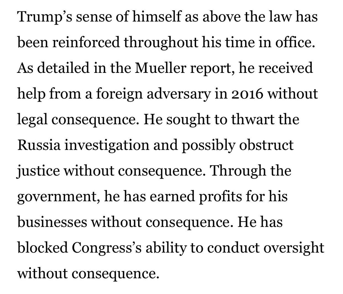 This paragraph from @PhilipRucker @costareports @rachaelmbade...   https://www.washingtonpost.com/politics/trumps-ukraine-call-reveals-a-president-convinced-of-his-own-invincibility/2019/09/21/1a56466c-dc6a-11e9-ac63-3016711543fe_story.html …