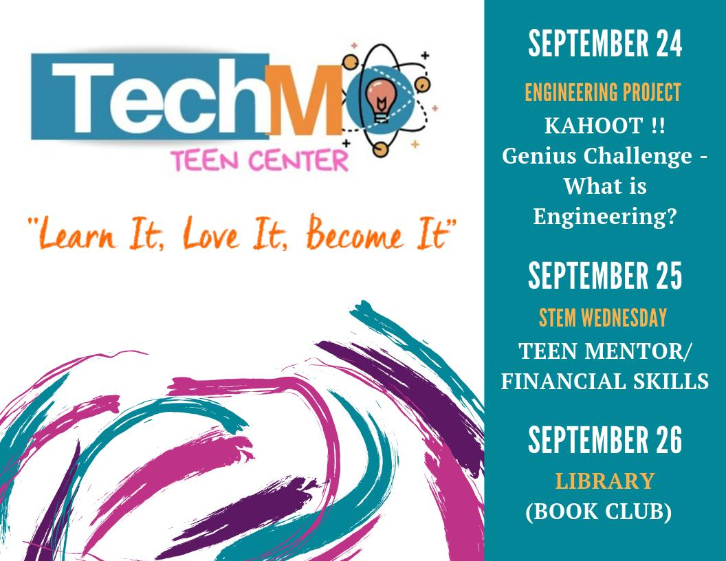 TechMO Upcoming Events..See you there!   #stemeducation #stemshow #robotics #summerville #techmo#science #technology #engineer #math #techmolearning #afterschool #robotics #teencenter #afterschool #afterschoolcenter #stemwednesday  #teenleaders #youthmentors #mrstechmopic.twitter.com/EraVXeFySx