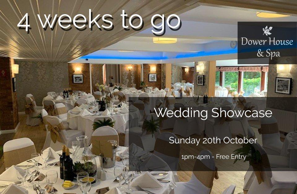 Only 4 weeks to go! https://t.co/EoyVqhRxvT  #WeddingShowcase https://t.co/eV8dFSQRJ9