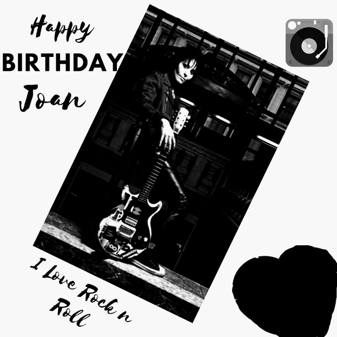 A GIANT HAPPY BIRTHDAY TO JOAN JETT! Have the best day ever and ROCK Jersey tonight!  Love Julie