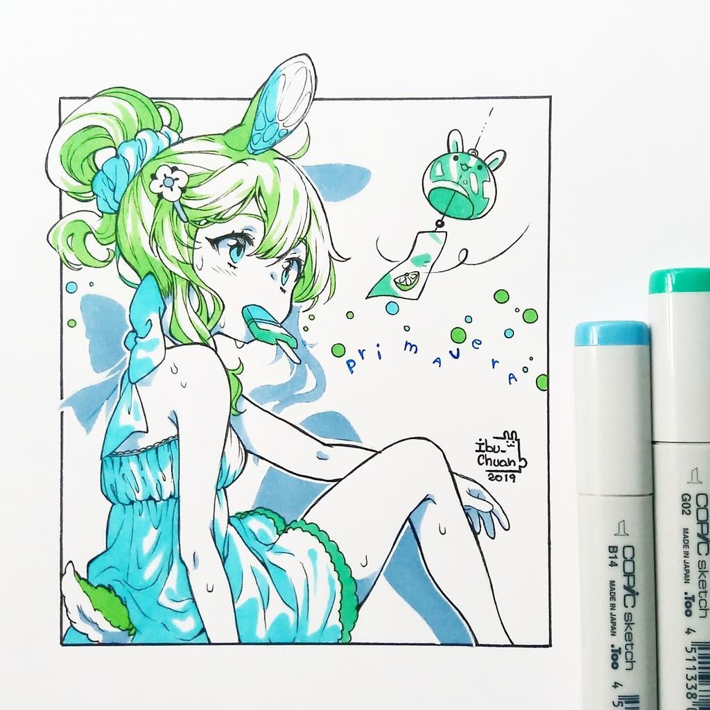 Ayer empezó la primavera Y nada mejor que darle la bienvenida con un dibujito de mi oc Lemoni QwQ Espero que este año no sea calurosamente cruel _(:3_ (Ya que la primavera casi ya no existe y solo es verano)
