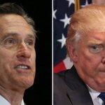 Image for the Tweet beginning: Romney: Trump asking Ukraine to