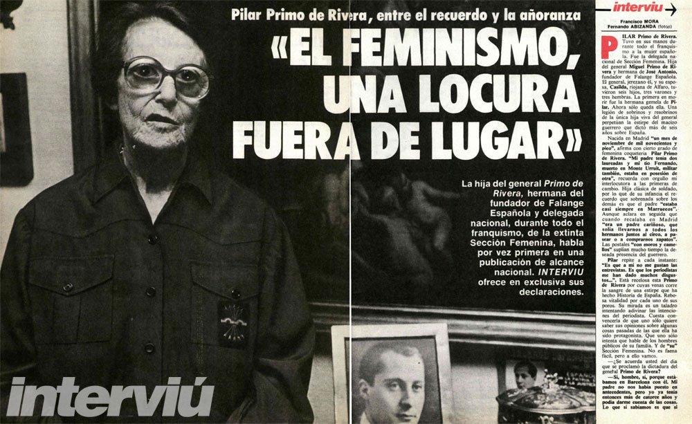 Resultado de imagen de pilar primo de rivera feminista