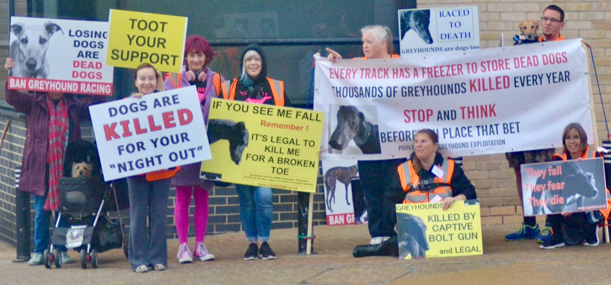 Another successful demo at Poole greyhound stadium last night. We received 166 toots of support  <br>http://pic.twitter.com/5n7GSGLGR6