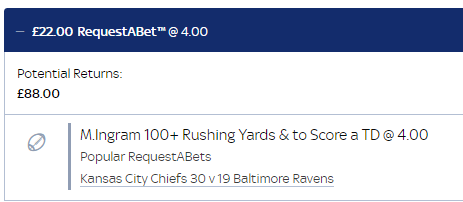threw this on after the Ravens first drive, ez money
