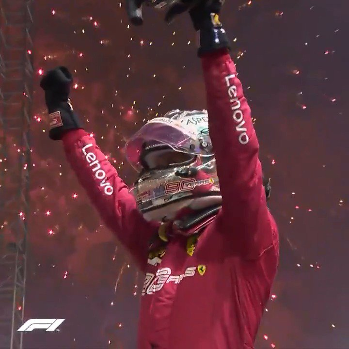 Victory for Vettel in Singapore 🇸🇬🎇  Is this your favourite of his @ScuderiaFerrari wins?  #F1 https://t.co/Gmb8cKIKMm