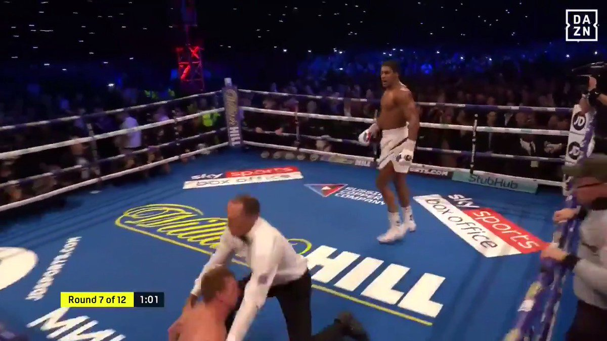 One year ago today, Wembley Stadium erupted as @AnthonyFJoshua KO'd Alexander Povetkin 💥  #WatchOnDAZN