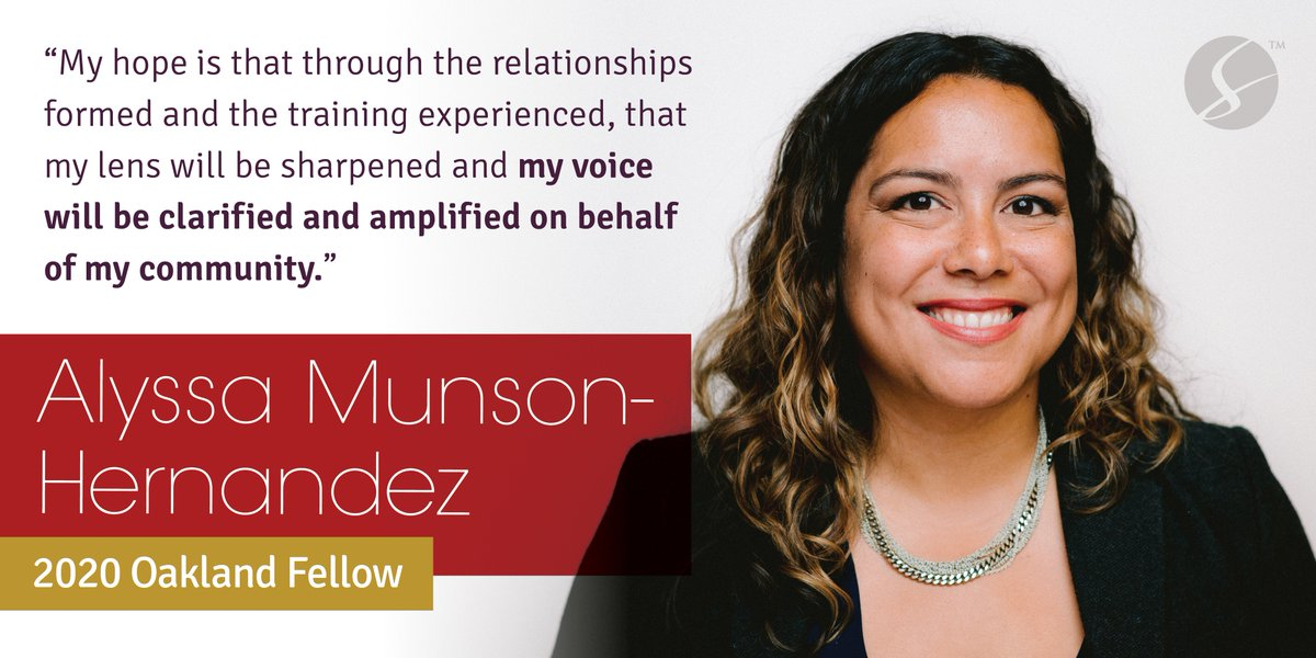 Meet Alyssa Munson-Hernandez, Assistant Principal at Epic Middle School, @EFCPS and 2020 #SurgeOakland Fellow! Learn more about the 2020 Surge Oakland cohort at:  http:// bit.ly/2020SurgeOakla nd   …  | #SurgeFellowship #Family #EduColor #EdLeaders #BayArea<br>http://pic.twitter.com/NfEP35fnVK