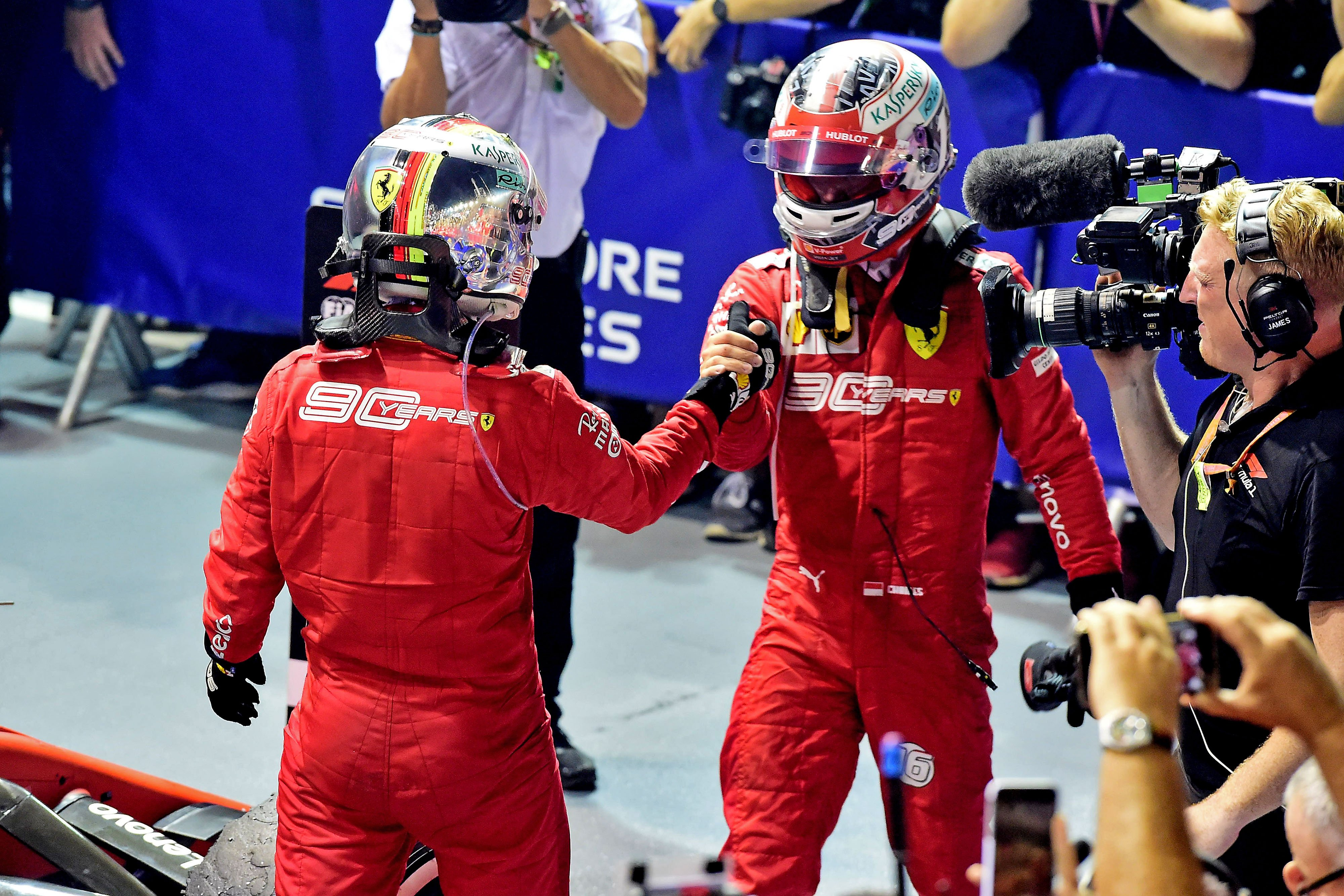 Imagen: Victoria de Ferrari. Imagen vía: Twitter oficial de la Scudería Ferrari