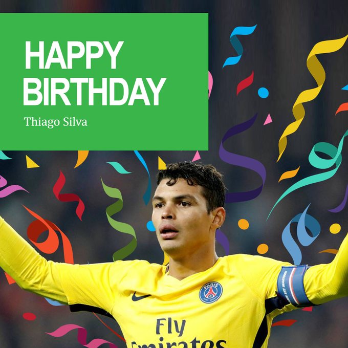 Happy birthday Thiago Silva! He celebrates his 35th today.