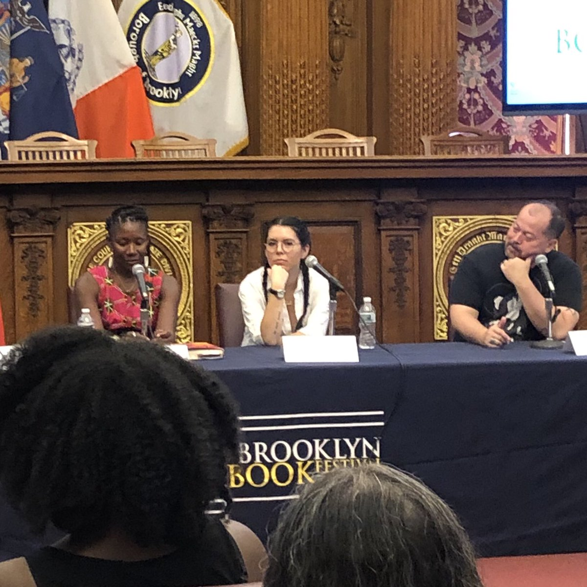 """""""All the conflict you need is in the different versions of yourself."""" @TKMadden on writing memoir at @BKBF #BKBF"""