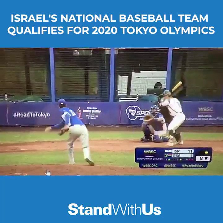 WATCH: #Israels national baseball team qualified for the Olympics for the 1st time in history! Go Israel 🇮🇱💪 #TokyoOlympics