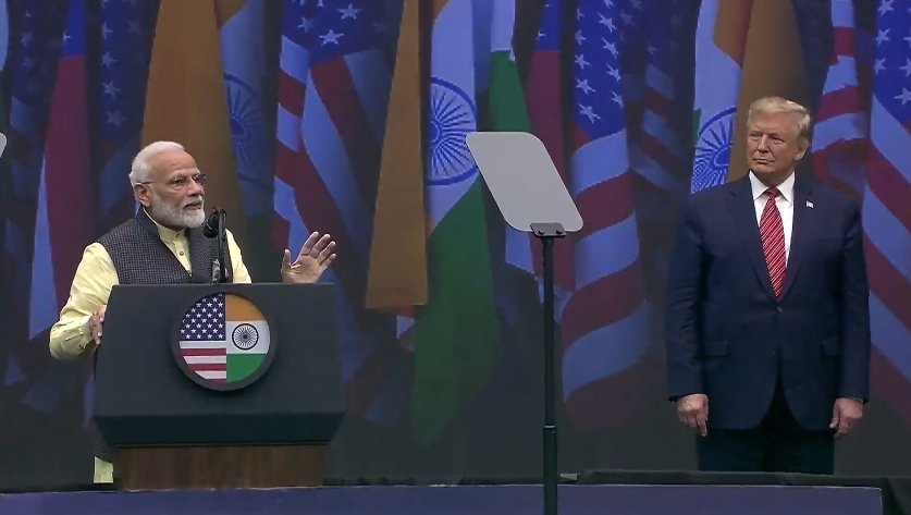 He has already made the American economy strong again. He has achieved much for the US and for the world.   We, in India, have connected well with President Trump: PM Modi #HowdyModi
