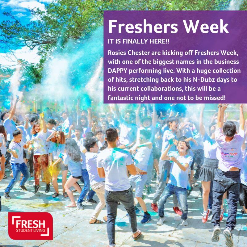 Great start to your Freshers Week - enjoy yourself everyone #havefun #freshersweek2019 #chesterlife #granarystudios