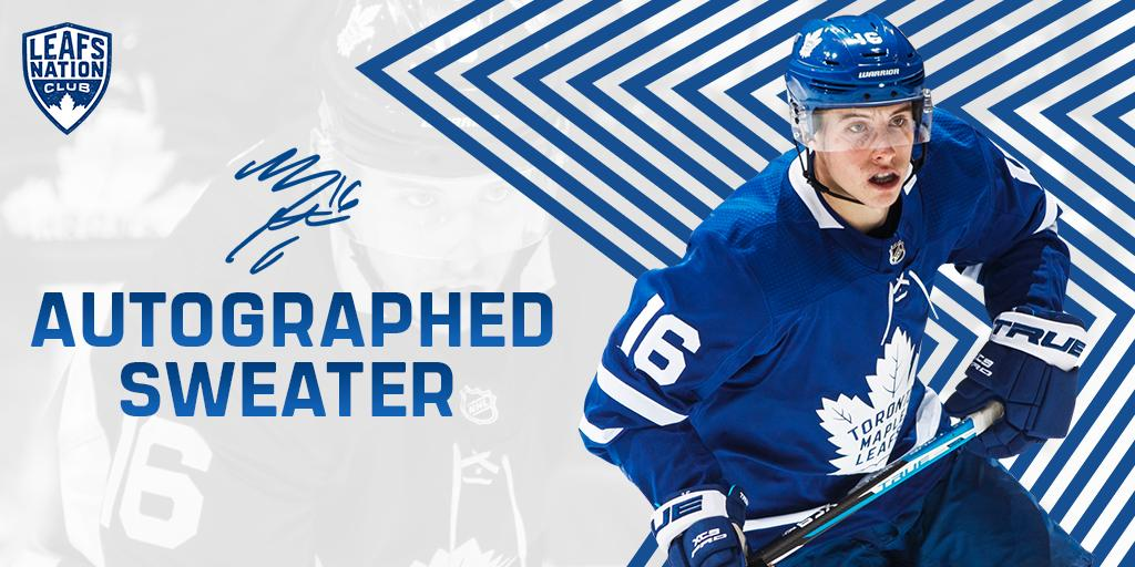 Get ready for the season with a new Leafs sweater signed by @Marner93. Dont miss your chance to win! Enter now >> bit.ly/2kjhwDi
