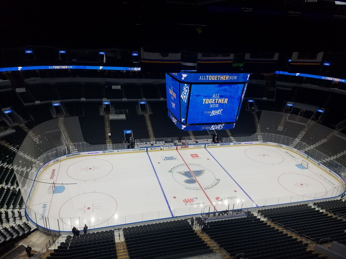 Back in the saddle. Last time here for a real game was June 9, I believe. #stlblues